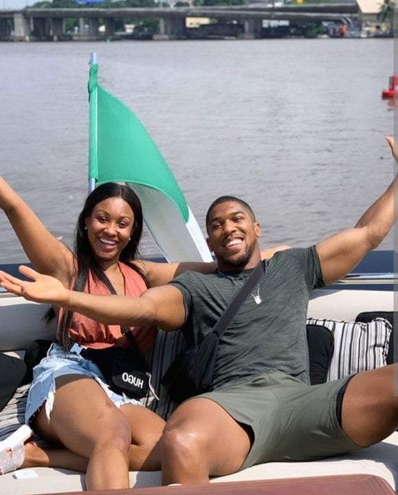 Dangote Hosts Anthony Joshua, Sister On His ₦15.5 Billion Luxury Boat (Photos)
