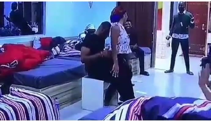 #BBNaija: Esther Kisses Frodd And Gives Him Lap Dance (Photos) 5