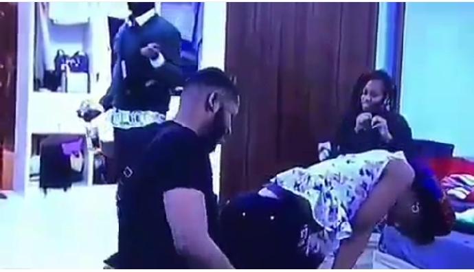 #BBNaija: Esther Kisses Frodd And Gives Him Lap Dance (Photos) 6
