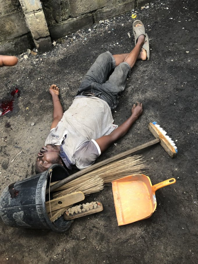 SARS Officers Chasing Weed Smokers Shoots Cleaner Dead In Lagos (Photos)