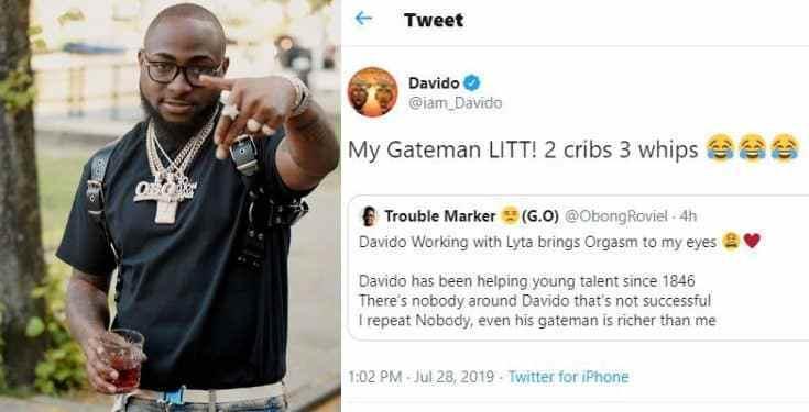 'My Gateman Has Two Houses And Three Cars' — Davido