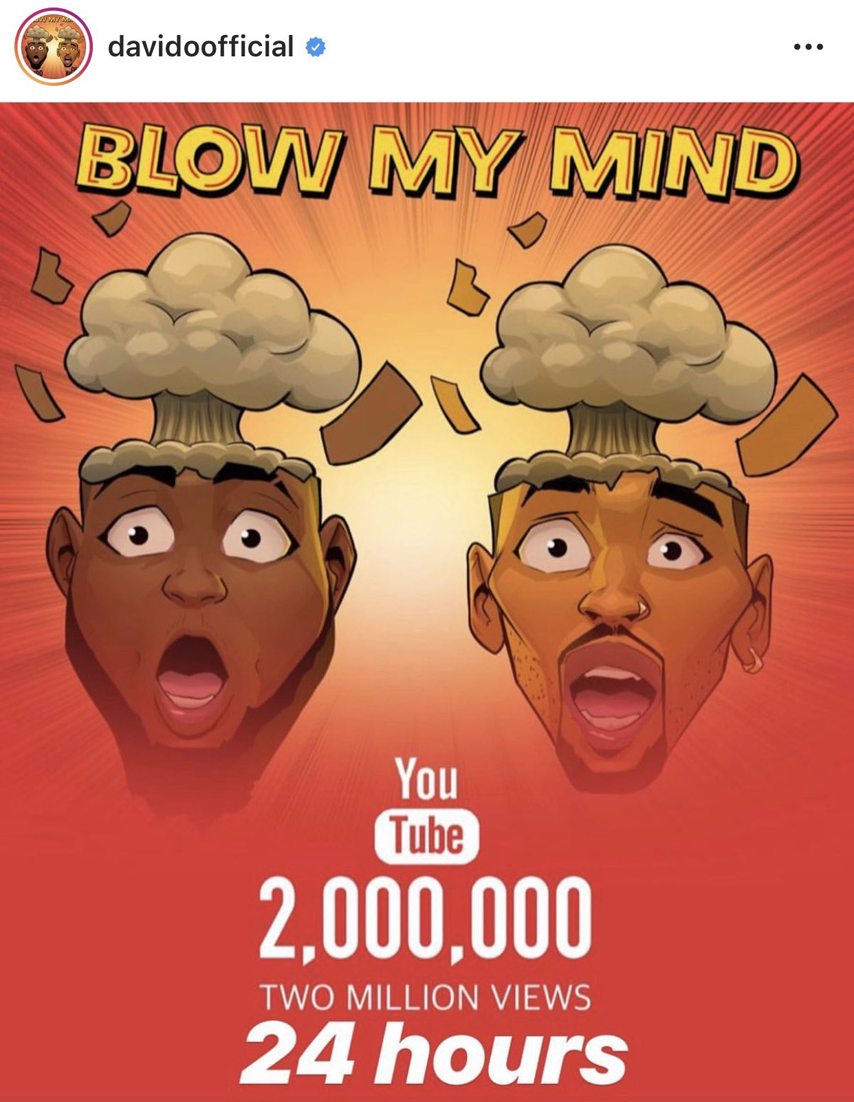 Davido's Blow My Mind Video Hits 2Million Views In 24 Hours