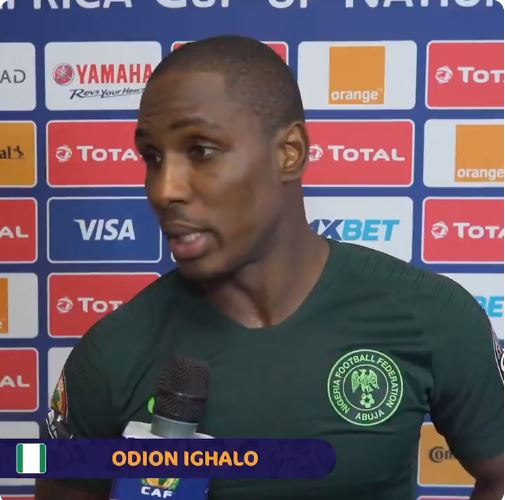 """""""We're Sorry"""" — Odion Ighalo Apologizes To Nigerians After Super Eagles Exit From 2019 AFCON"""
