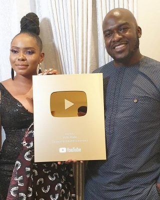 Yemi Alade Given 'Gold Play Button' For Becoming First African Woman To Get 1M Subscribers on Youtube
