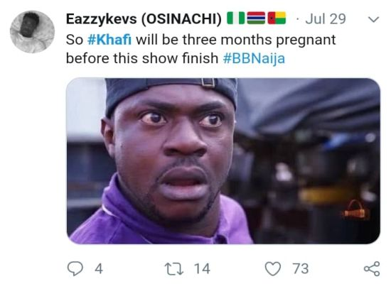 #BBNaija: 'Khafi The Sex Addict' Trends On Twitter, Nigerians React (See Reactions) 22