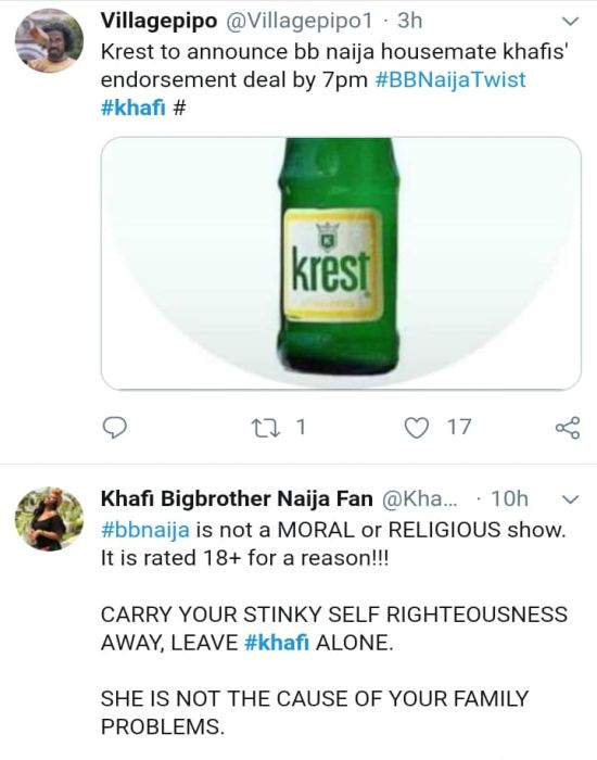 #BBNaija: 'Khafi The Sex Addict' Trends On Twitter, Nigerians React (See Reactions) 23