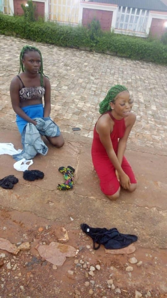 Two Young Girls Punished For Impersonating Black Axe Confraternity