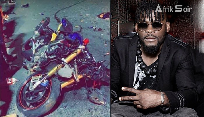 Watch CCTV Footage Of The Moment DJ Arafat's Bike Hit A Car (Video)