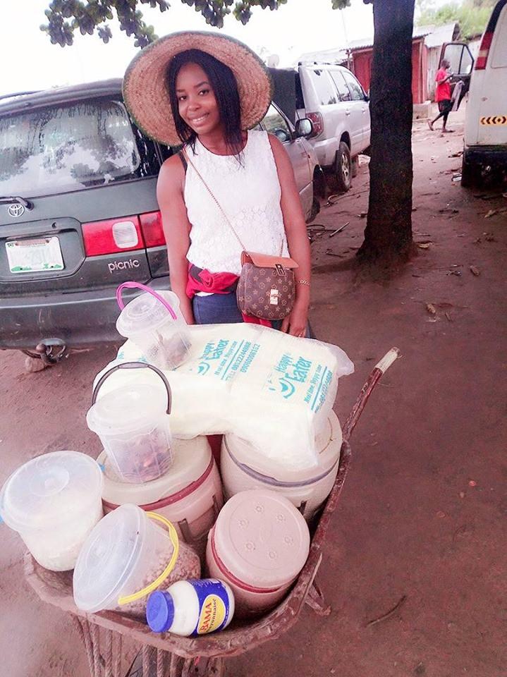 I Make More Money Than Salary Earners – Graduate Who Sells Food Using A Wheelbarrow