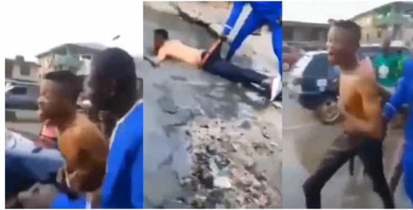 Yahoo Boy Runs Mad After Failing To Use His Mother For Money Ritual (Video)