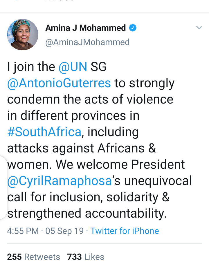 #Xenophobia: United Nations Reacts To Killings In South Africa