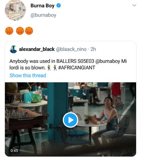 "Ballers: Burna Boy's ""Anybody"" Featured On American Movie"