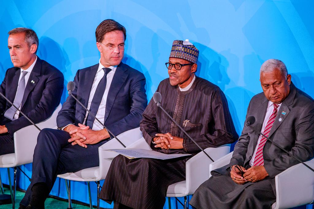 Photos Of Buhari & Other Presidents At UN General Assembly