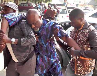 Senator Dino Melaye Couldn't Walk At The Resumed Hearing Of His Criminal Trial In Abuja