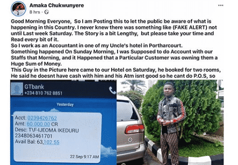 Man Books Two Hotel Rooms, Eats Free Food, Pays With Fake Bank Alert