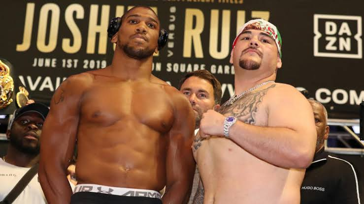 Andy Ruiz Playfully Smirks At Anthony Joshua During Stare Down (Video)