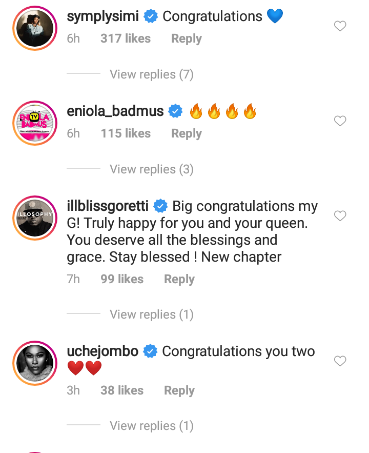 Celebrities Shower Love On Davido & Chioma After Their Engagement