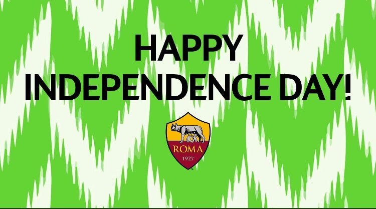 AS Roma Wishes Tacha, Burna Boy, Other Nigerians Happy Independence Day