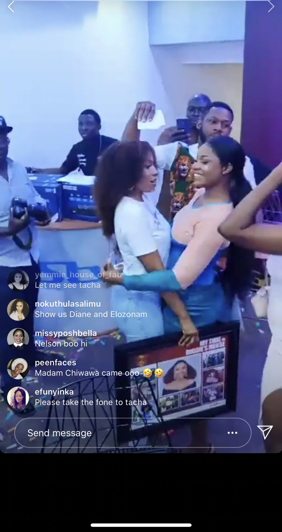 Tacha Reconciles With Mercy, Hugs Her (Video)