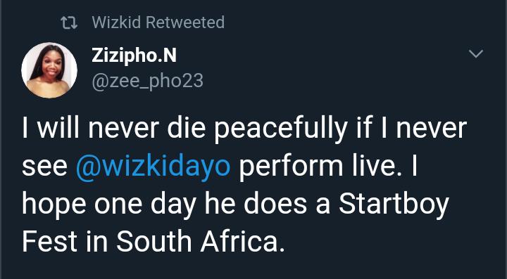 Wizkid's Female Fan Begs Him To Hold Starboy Fest In South Africa, Nigerians Shun Her (Photos) 15