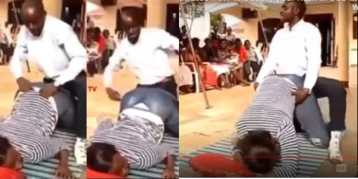 Ugandan Pastor Practically Teaches His Congregation How To Have Doggy Style S3x (Video)