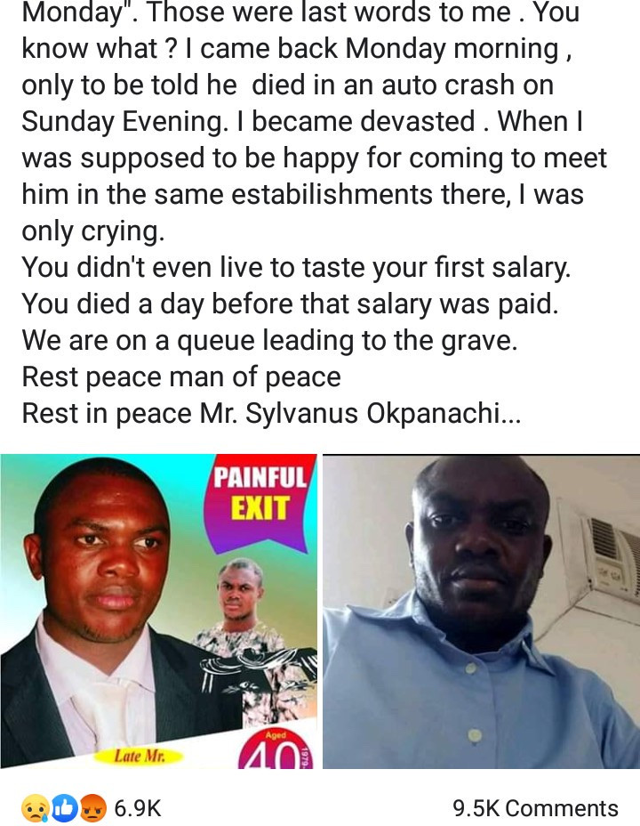 Man Who Searched For A Job For 6 Years Dies day Before He Was To Receive His First Salary At His New Job 12