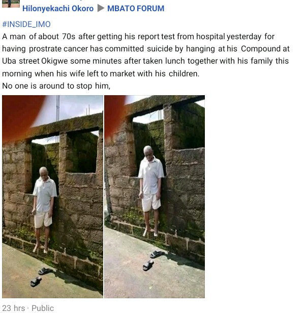 Elderly Man Commits Suicide In Imo State 3