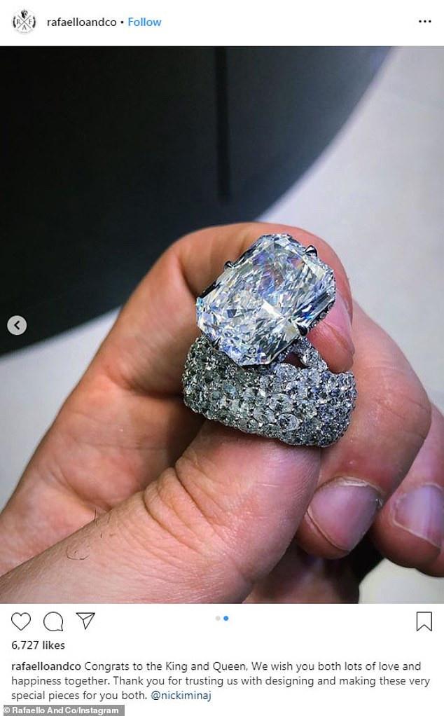 Nicki Minaj Flaunts $1.1million Wedding Ring 39