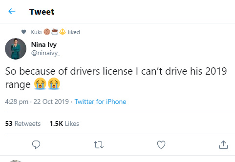 """Nina Complains About Her Inability To Drive Her New Boyfriend's """"2019 Range"""" In The US 13"""