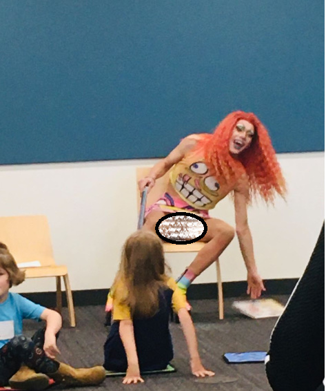 Drag Queen In Skirt Exposes His Crotch To Children At 'Story Hour' Event (Photo) 3