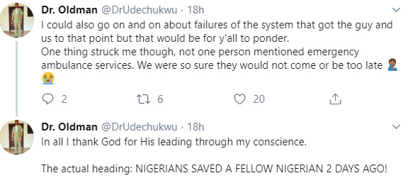 Nigerian Medical Doctor Recounts How He Saved The Life Of A Young Man 36
