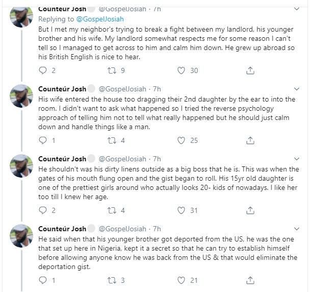 Twitter User Narrates How His Landlord's 15-year-old Daughter Got Pregnant For Her 35-year-old Cousin 4