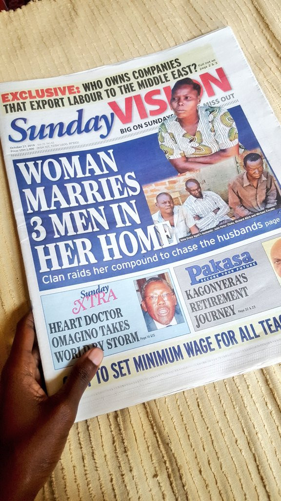 A Woman Who Married 3 Husbands Trends On Twitter As She Makes Front Page Of A Newspaper 20