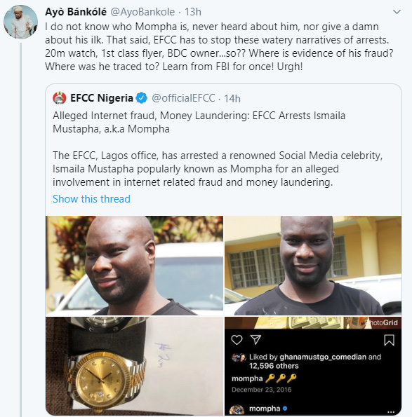'Where Is The Evidence That He Is Committing fraud?'' Nigerians query EFCC On Mompha's Arrest 14