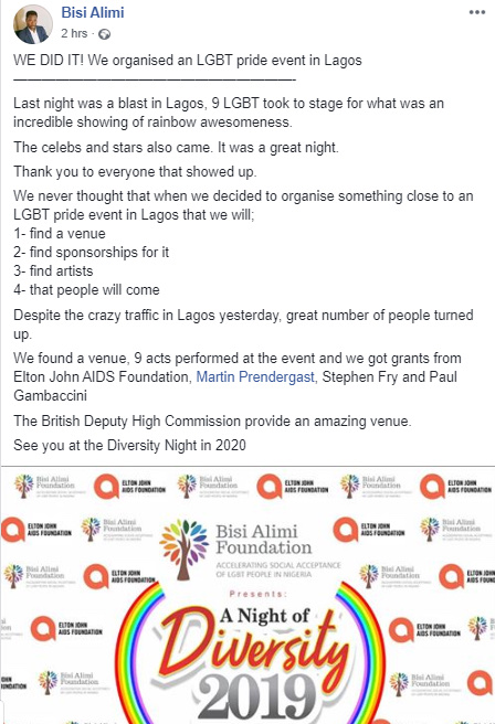 Bisi Alimi Pictured At The First Ever LGBT Pride Event In Lagos 12