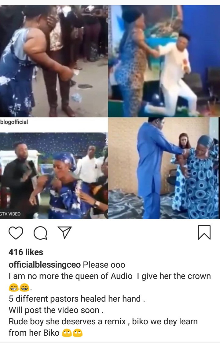 Blessing CEO Passes The Lying Crown To Woman Who Went Viral For Faking Miracles In Different Churches 6