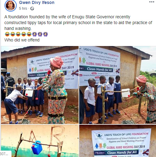 Enugu First Lady, Monica Ugwuanyi Commissions Tippy Taps For Primary School Pupils (photos) 14