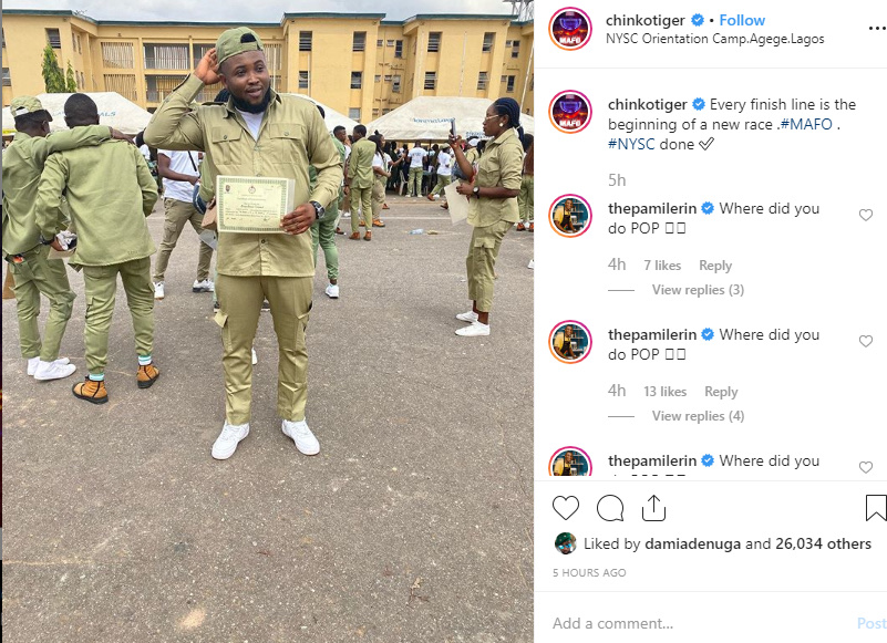 Rapper Chinko Ekun Concludes His NYSC 6