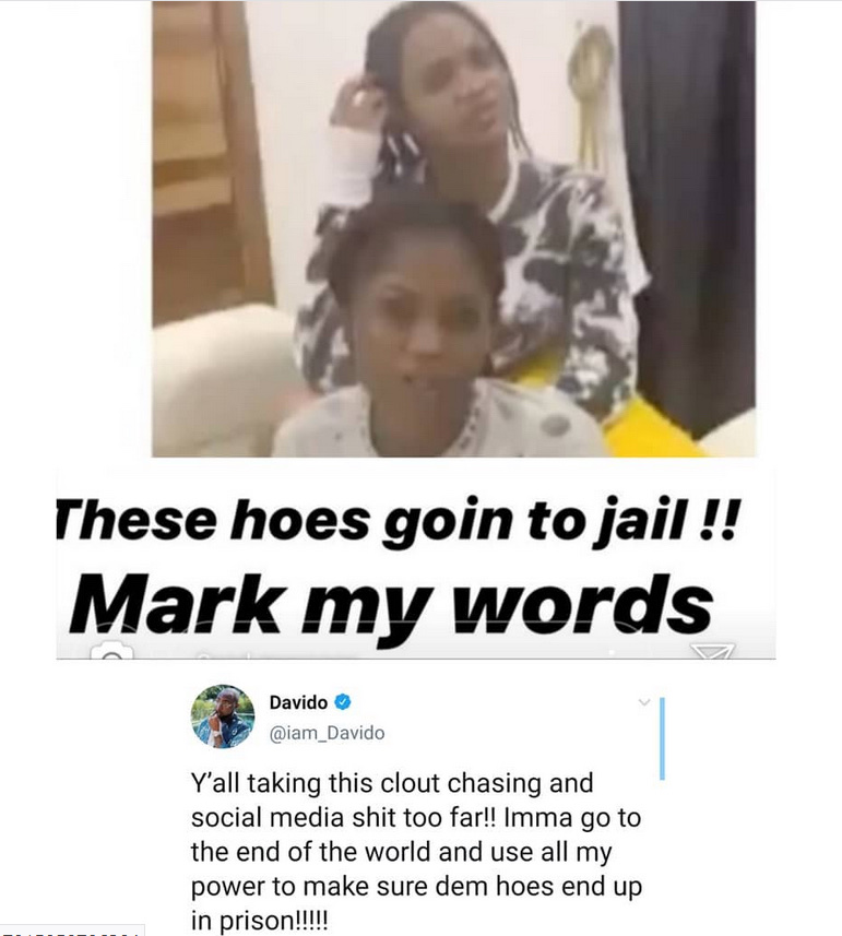 Mark My Words, These Hoes Are Going To Jail- Davido Reacts To Viral Video Of Lady Claiming She Is Pregnant For Him 9