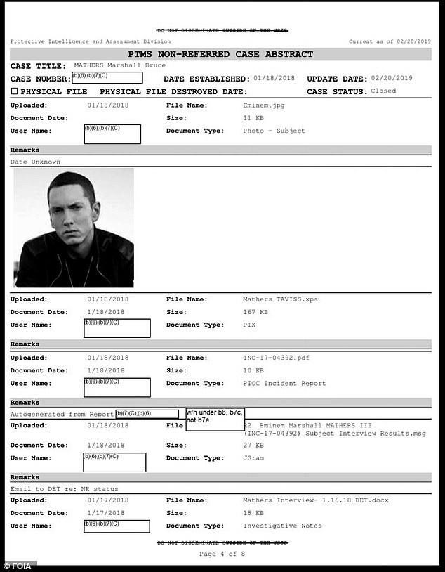 Secret Service Agents Visited Eminem Over 'Threatening Lyrics' On His 2017 Album Against Trump And Ivanka 11