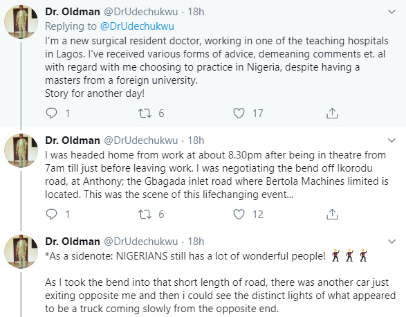 Nigerian Medical Doctor Recounts How He Saved The Life Of A Young Man 27
