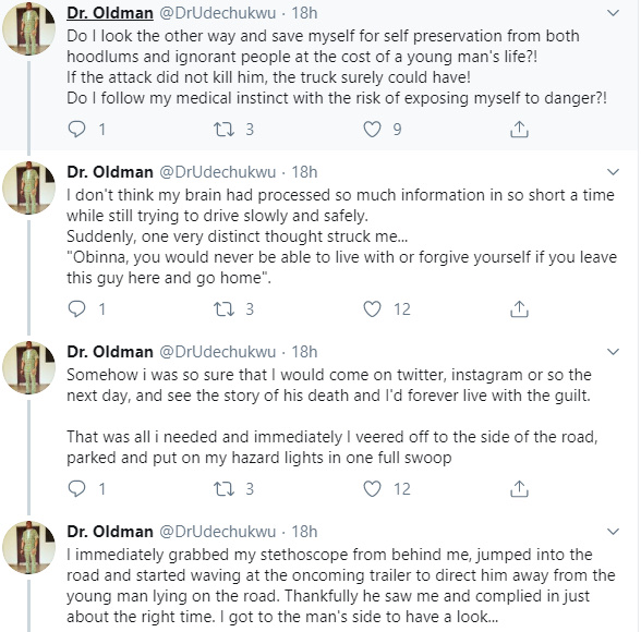 Nigerian Medical Doctor Recounts How He Saved The Life Of A Young Man 30