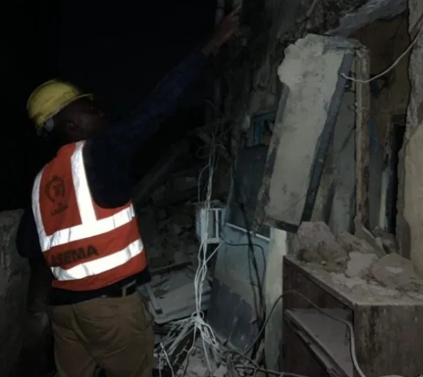 Two Storey Building Collapses In Lagos 4
