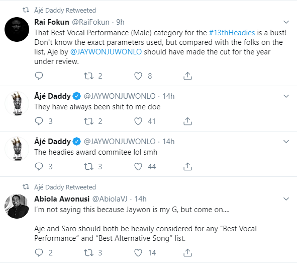 Singer Jaywon angry over headies listing 9