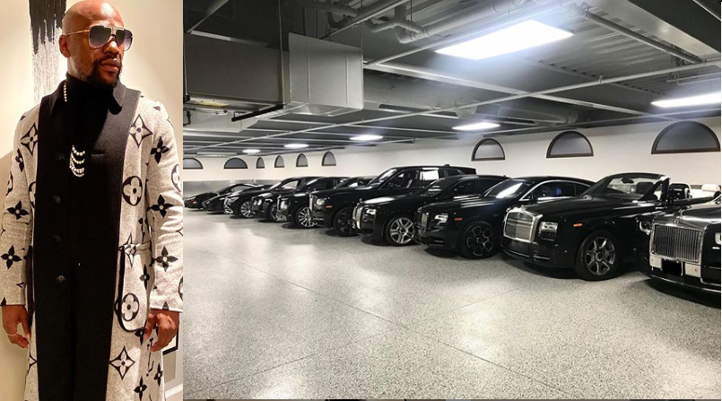My Garage Is An Indoor Dealership — Floyd Mayweather As He Shows Off His Luxury Cars 8