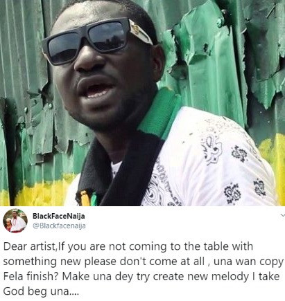 Blackface pens open letter to new artists trying to copy Fela 6