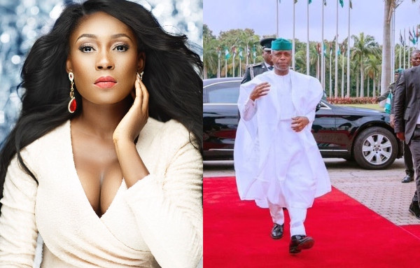 We didn't vote in Ebuka,actress Lota Chukwu says after Vp Osinbajo stepped out looking peng in Snow White Agbada 8