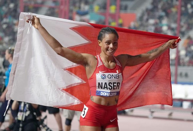 Nigerian Born Salwa Eid Nasar Runs Third Fastest In World History,Ebuka Reacts 3