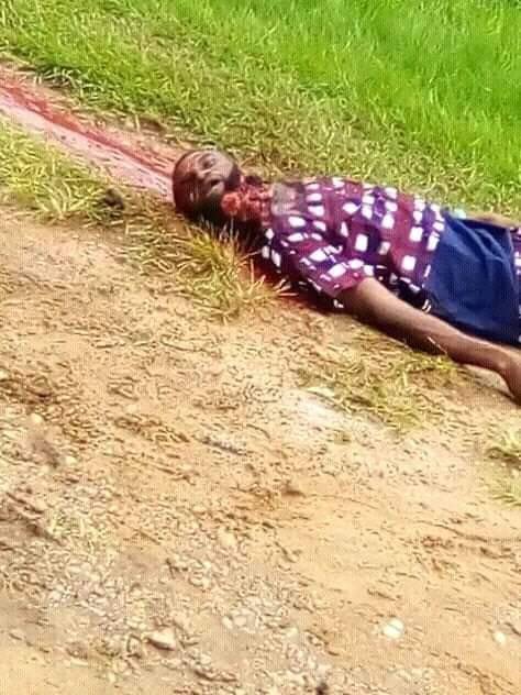 Graphic Photos:CRUTECH Student Brutally Murdered By Rival Cult Members 15