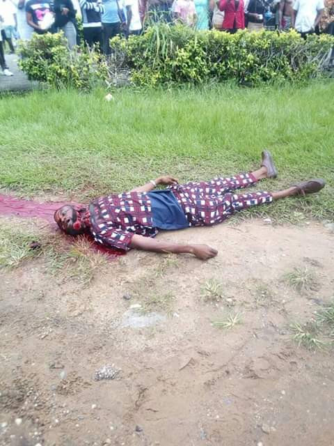Graphic Photos:CRUTECH Student Brutally Murdered By Rival Cult Members 14